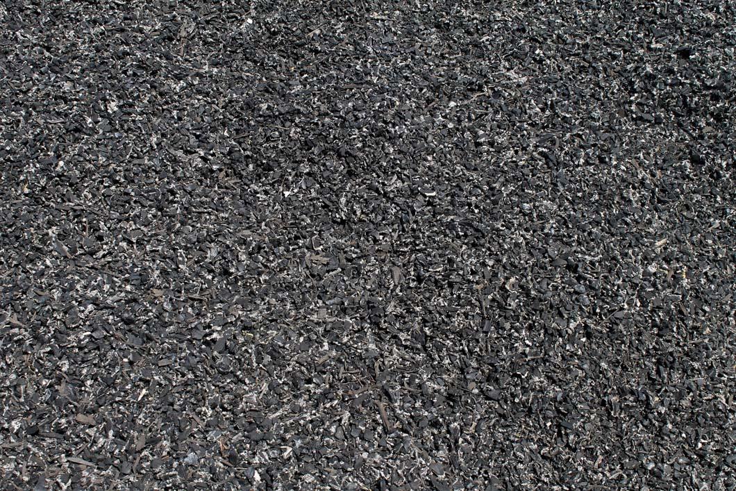 Rubber Bark Chips ~ Mulch landscape materials
